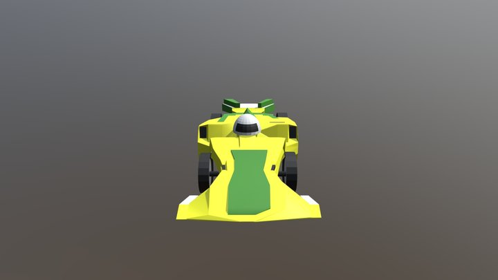 Low-Poly Racecar 3D Model