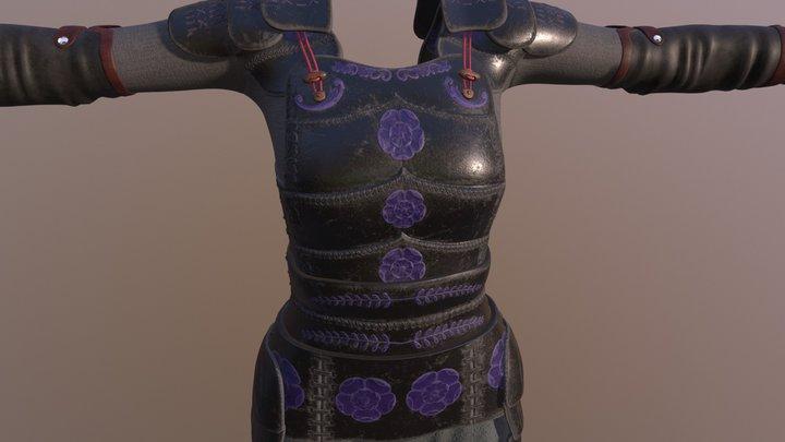 Japanese inspired armour 3D Model