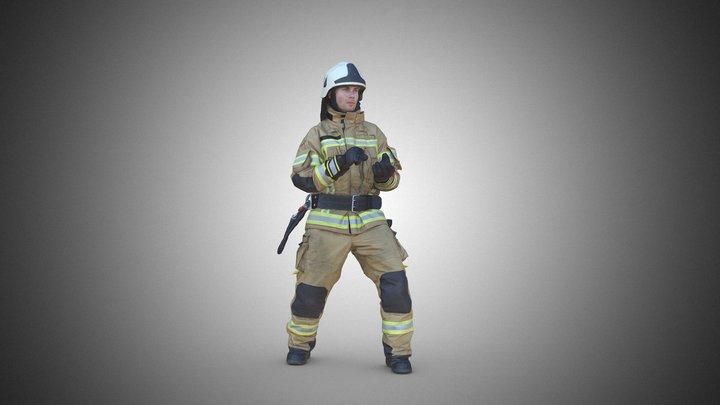 FireFighter (german) 3D Model