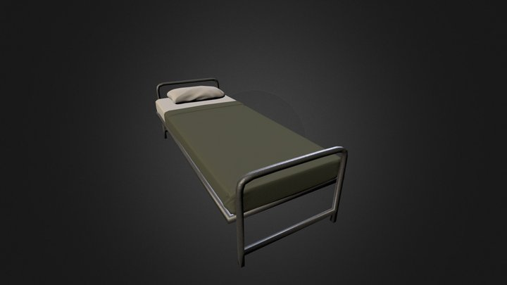Army Style Bed 3D Model