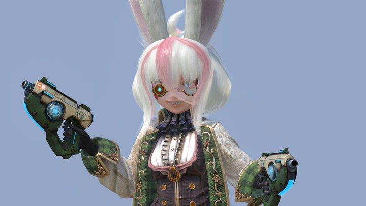 Steam Bunny Girl 3D Model