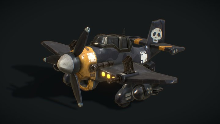 Cartoon Stuka bomber 3D Model