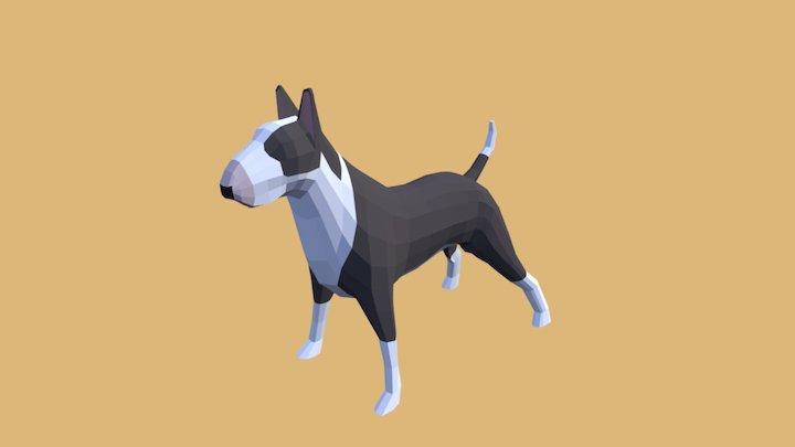 Bullterrier Lowpoly 3D Model