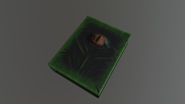magical book 3D Model