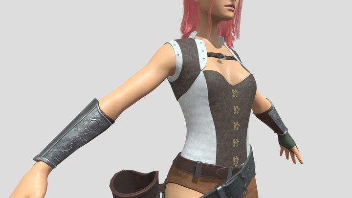 elf girl ranger 3D Model