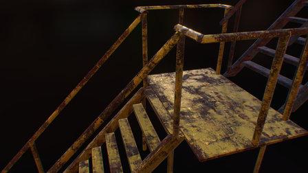 Ladder - Texture Variations 3D Model