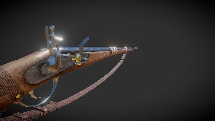 Custom Rifled Musket. 3D Model