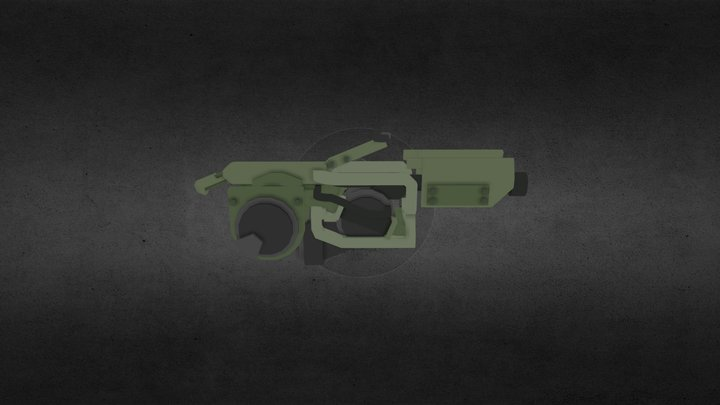 Flame Thrower - Halo 3 3D Model
