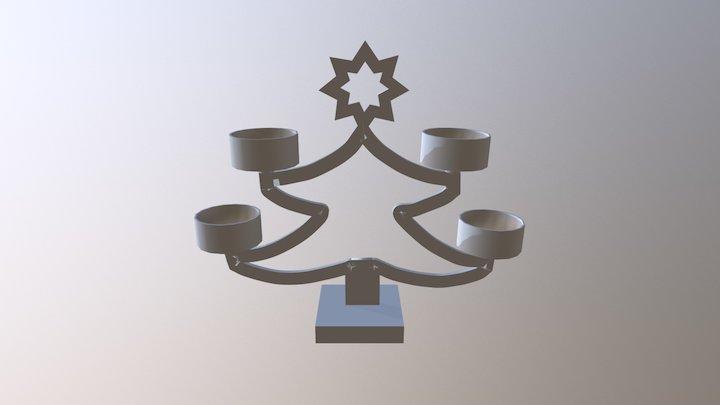 Star T- Light 3D Model