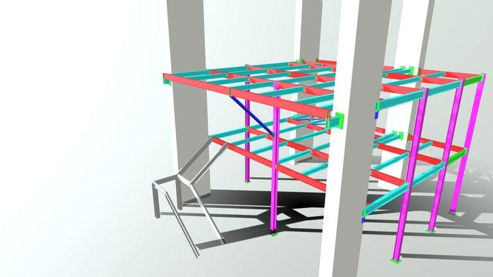 ESTRUTURA PARA MEZANINOS 3D Model