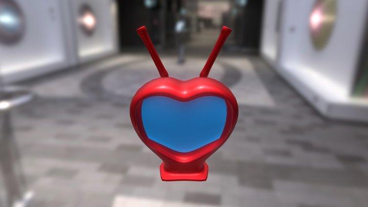 Heart shaped TV 3D Model