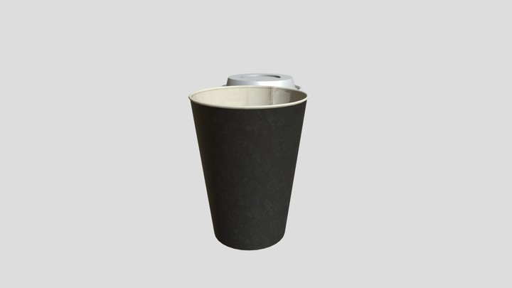 Plastic cup of coffe 3D Model