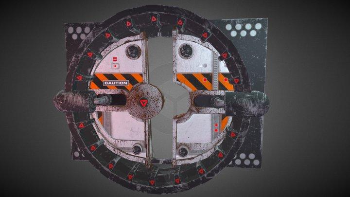 Free Airlock Door 3D Model