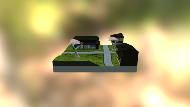 Rural Asian CityScene 3D Model