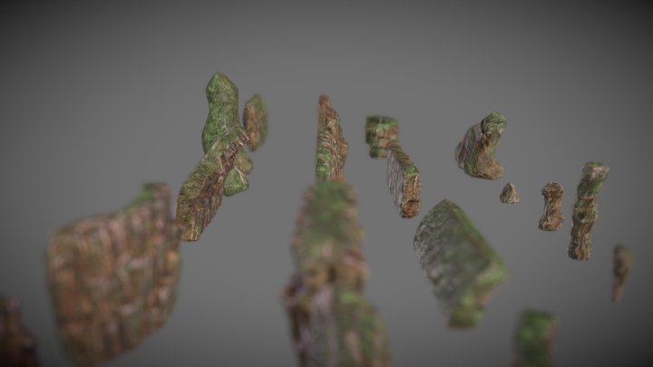 Projet Aaron - Rock Wall collection 3D Model
