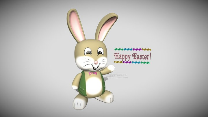 Easter Bunny Texturing Challenge 3D Model