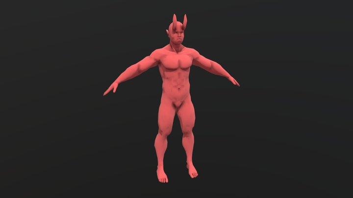 Demon Male Base Mesh 3D Model