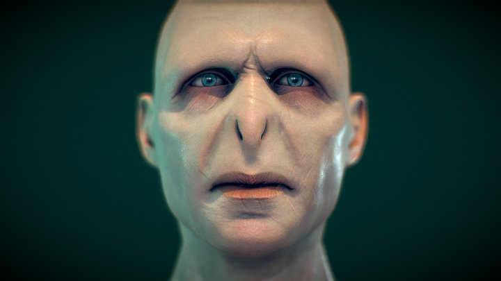 Lord Voldemort - Head - High Poly WIP 3D Model