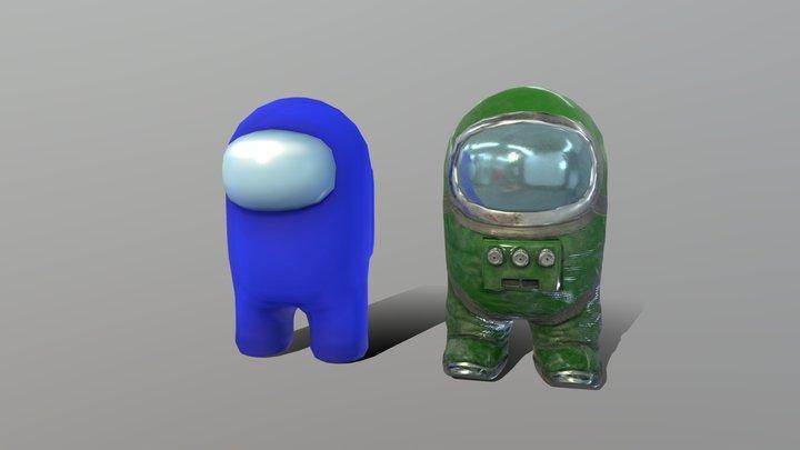 Among Us Characters 3D Model