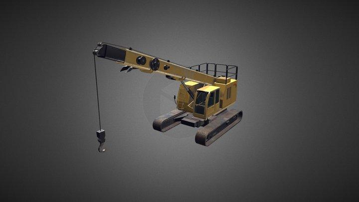 Crawler crane 01 3D Model