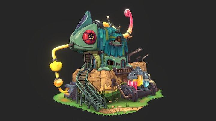 Chameleon House 3D Model