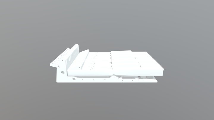 Keyboard Octave Section 3D Model
