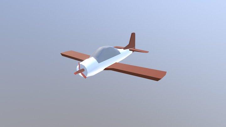 Avion - avioneta low poly 3D Model