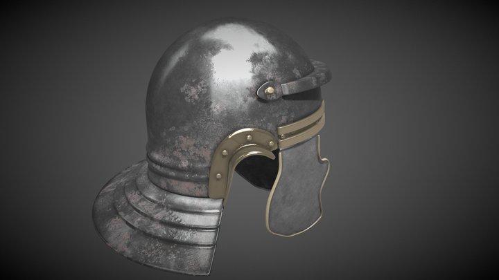 Casco Itálico/ Roman Italic Helmet 3D Model