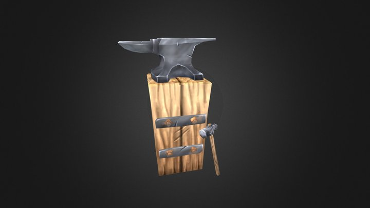 Anvil and a Hammer 3D Model