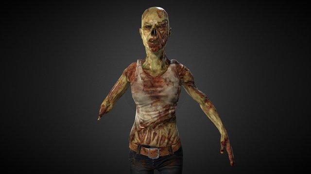 Zombie Lady 3D Model