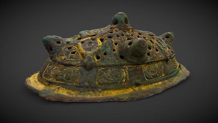 Oval Brooch from grave Bj 966, Birka 3D Model