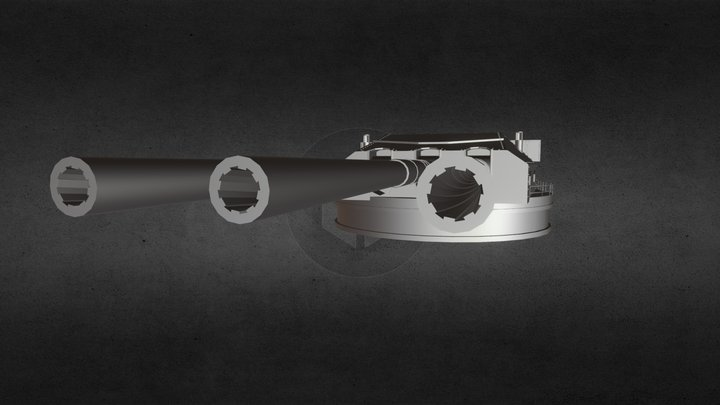 Yamato 18 Inch Cannon (WIP) 3D Model