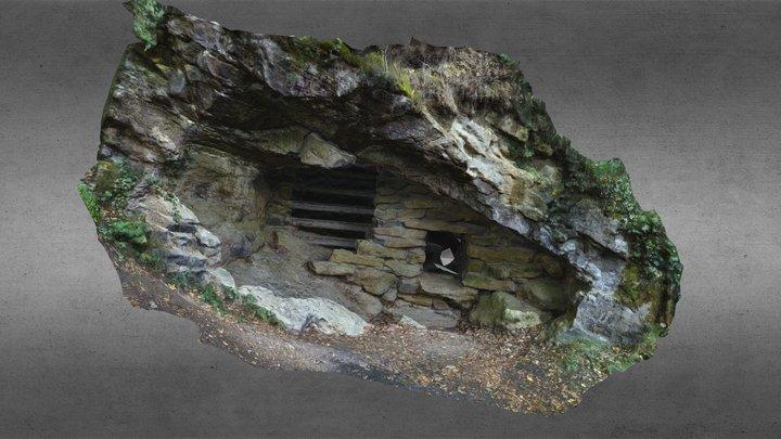 Entrée de la grotte Moneuse 3D Model