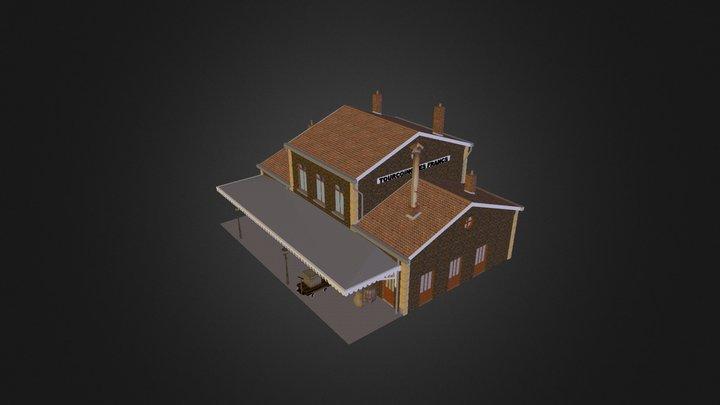 batiment voyageurs de l'ancienne gare des Francs 3D Model