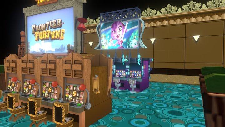 Mobile Casino Environment 3D Model