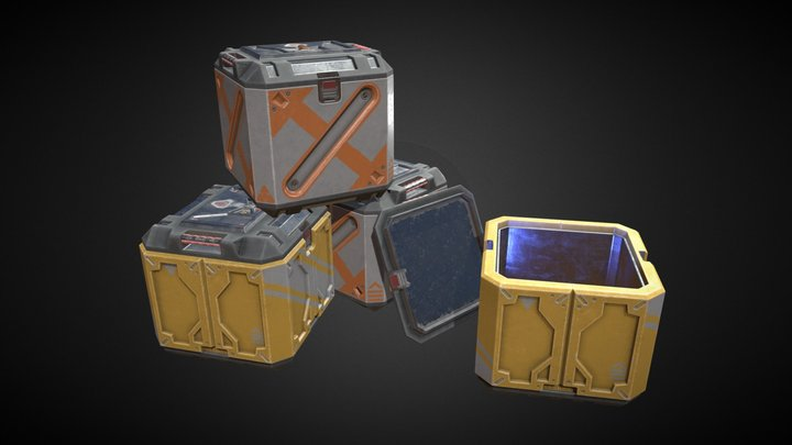 Key Arch Corp. Containers 3D Model