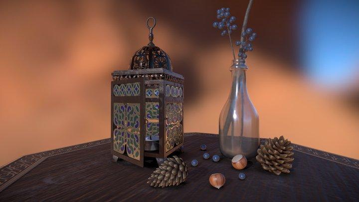 Arabian lantern 3D Model