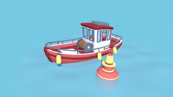 """""""Old Man's Journey"""" boat 3D Model"""
