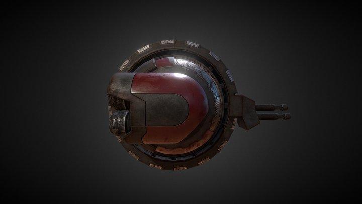 Mercenary Ship 001 3D Model
