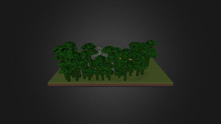 Village Maya, Aztèque, Olmèque ou Inca.obj 3D Model