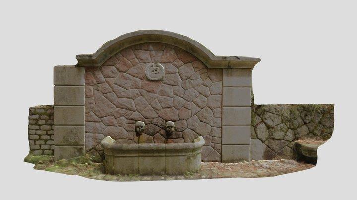 Fonte da N-541 en Viascon, Cotobade 3D Model