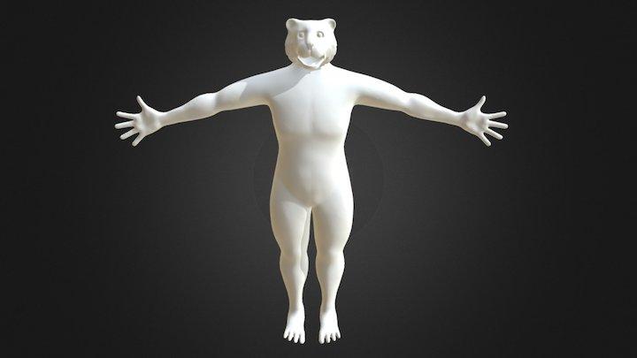 Tiger Character 3D Model