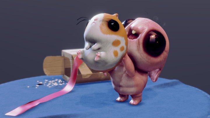 Happy Hamster 3D Model