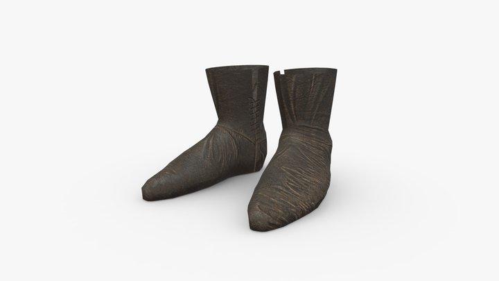 Medieval Peasant Boots 3D Model