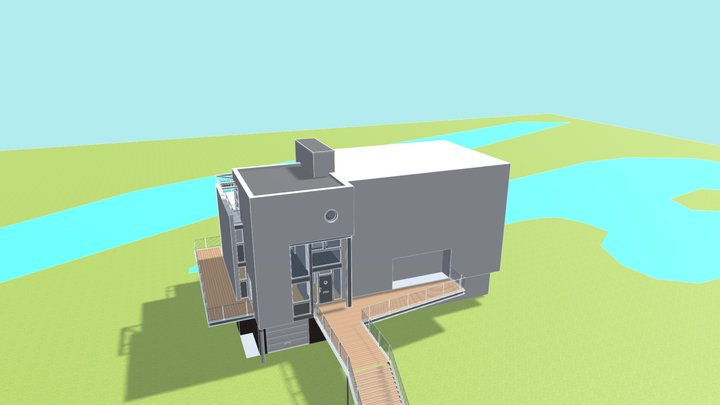 House in Empel the Netherlands 3D Model