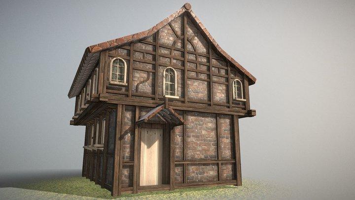 AOT Eren's home (low-poly) 3D Model