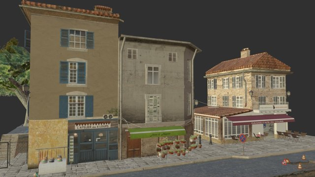 CityScene_Aups_2016 3D Model