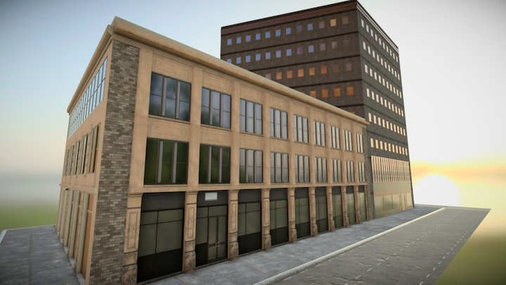 Maple Building 3D Model