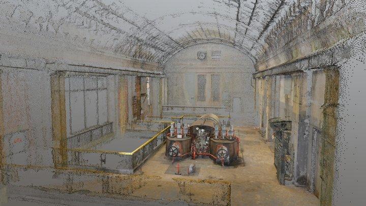 Szombierki Heat Power Plant - Pumproom + Tour360 3D Model
