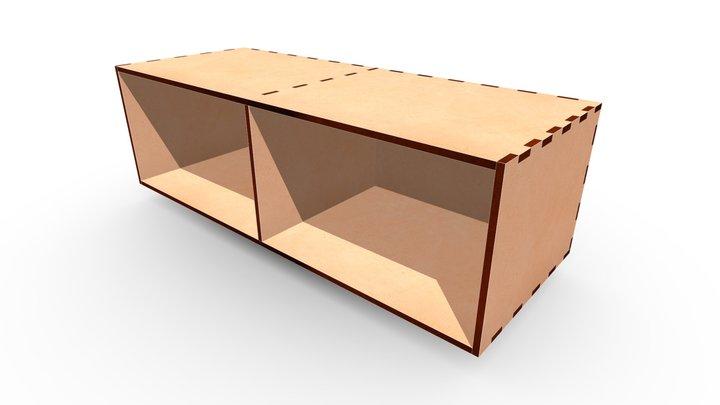 MDF Box 520x200x160b 3D Model
